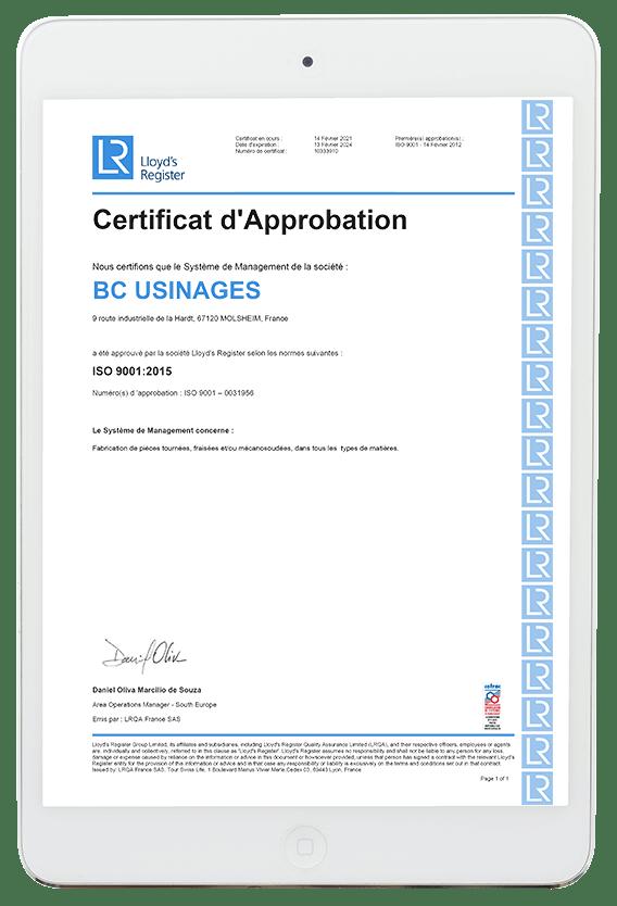 Certification 2021